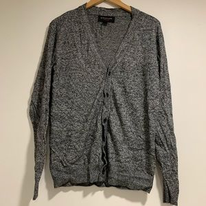 Structure slim fit heathered gray cardigan
